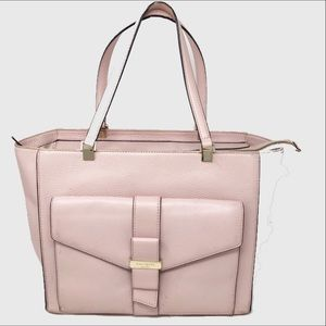 Kate Spade New York pink leather tote bag